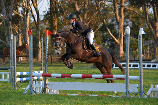 www.germanpix.net - Whisper and Kaitlyne Greyling jumping in the regional final 70cm class